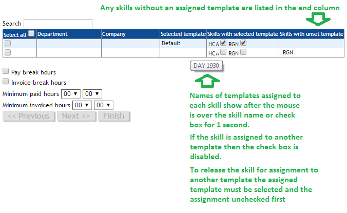 Payrollsetupwizard Selecting Condition For Skills And Departments