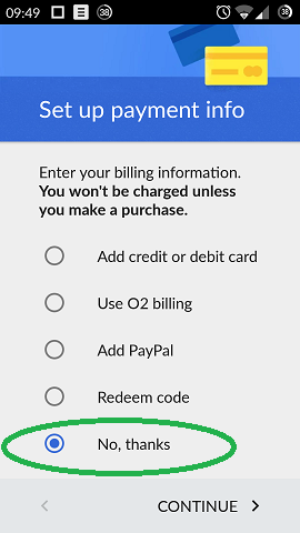 9 Google Account payment info