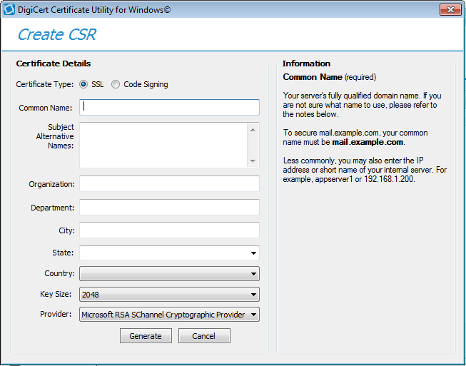 Create A Csr Certificate Signing Request For An Azure App Service
