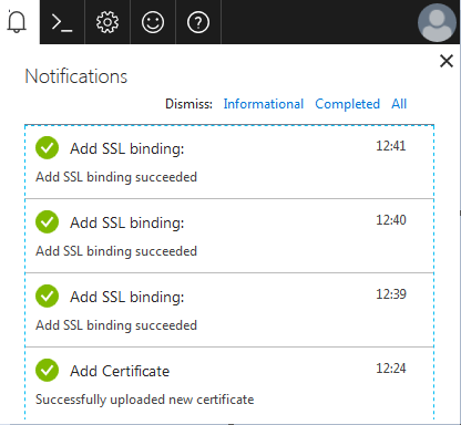 Windows Azure Website CSR Creation SSL Certificate Installation 9
